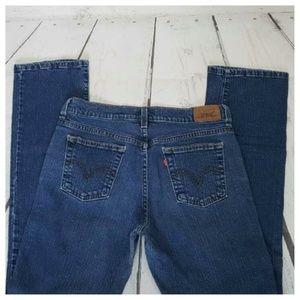 Levi 505 Straight Vintage Denim High-Rise Jeans 6M